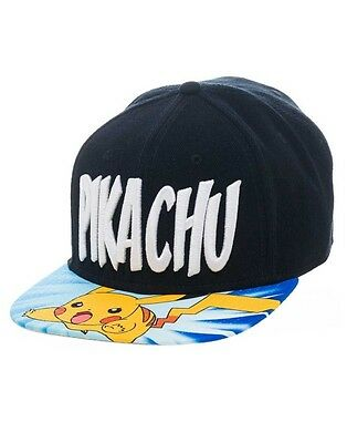 Pokemon Snap Back Hip Hop Cap Lightning Pikachu