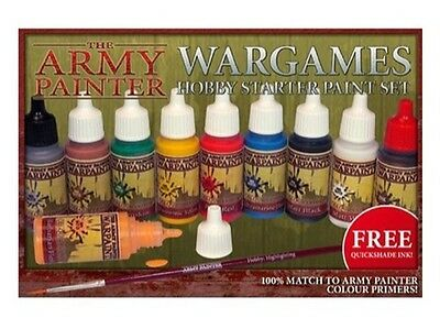 The Army Painter Wargames Hobby Miniatures Starter Paint/Brush Set TAPWP8003