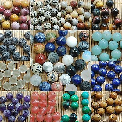 Wholesale Natural Genuine Stone Gemstone Round Spacer Loose Beads 4,6,8,10mm