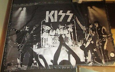 Kiss Woven Blanket Rock Collectable  Oop New 36 X 58 Limited Edition Run