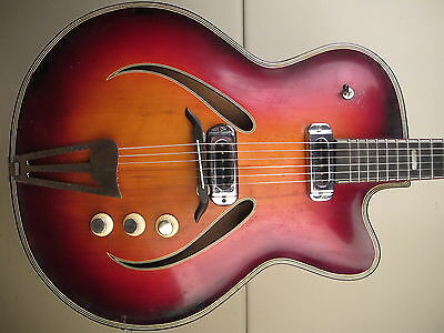 ♫ MUSIMA RECORD,Top of the Line! massive Archtop, vintage Jazzgitarre