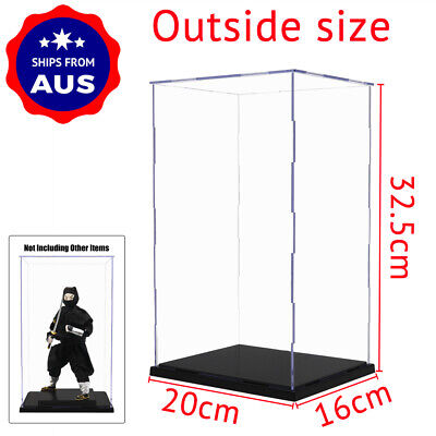 AU Acrylic Plastic Display Case Perspex Box 31cm H Self-Assembly Dustproof