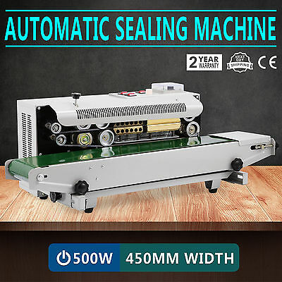Continuous Auto Sealing Machine Band Sealer Horizontal Plastic Bags 110V Usa