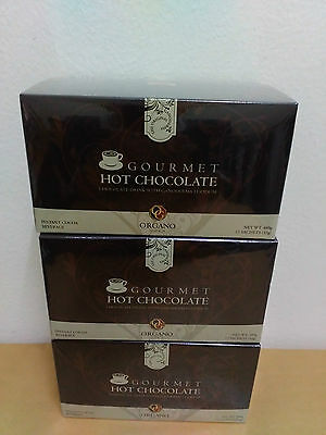 3 Boxes Organo Gold Hot Chocolate With Ganoderma Lucidum - 10/2018 !!!