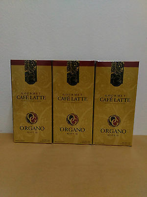 3 Boxes Organo Gold Cafe Latte With Ganoderma Lucidum - 10/2018 !!!
