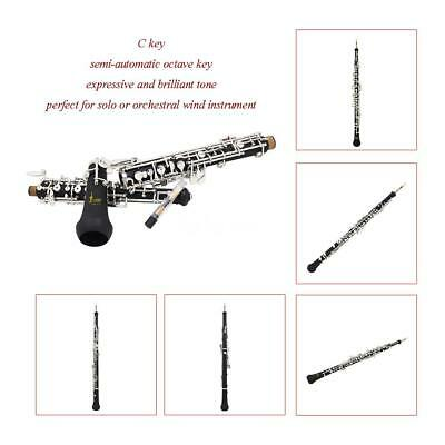Oboe C Key Cupronickel Plated Silver with Reed Gloves Lubricant Screwdriver X5O9