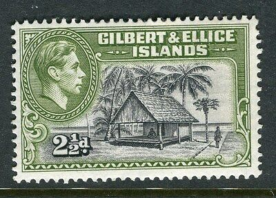 GILBERT ELLICE ISLANDS;  1938 early GVI issue Mint hinged 2.5d. value