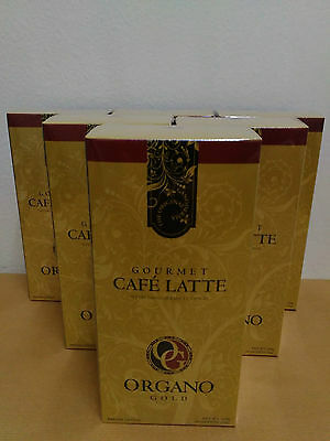 6 Boxes Organo Gold Cafe Latte With Ganoderma Lucidum - 10/2018 !!!