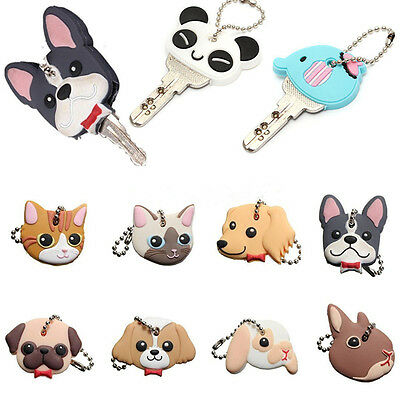 Cartoon Silicone Key Cover Lovely Key Cap Dog Puppy Cat Kering Charms New