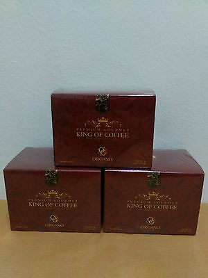3 Boxes Organo Gold King Of Coffee With Ganoderma Lucidum - 10/2018 !!!