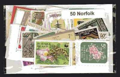 Norfolk - Norfolk Island 50 timbres différents