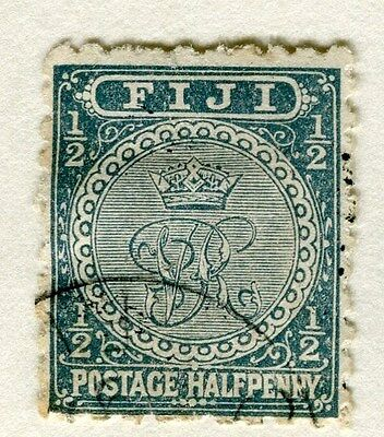 FIJI;  1891-1902 early classic QV issue fine used 1/2d. value