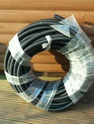 Flexible conduit pipe 20mm x 50m cable tidy pipe Garden Water pipe Polypropelene