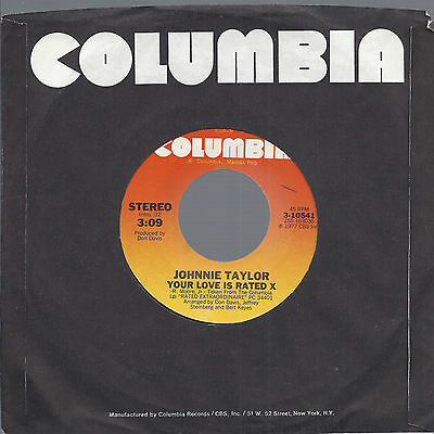 Your Love Is Rated X - Here I Go (Trough These Changes Again) # Johnnie Taylor