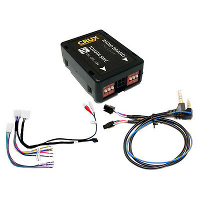 Crux SWRTY61S Radio Replacement W/swc Retention For Select Toyota Vehicles