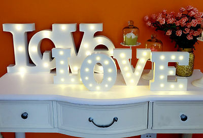 Alphabet Symbol Lights Sign Vintage Wooden LED Marquee Letter XMAS Wedding Party