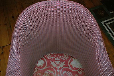 Lloyd Loom lusty dusty-pink chair