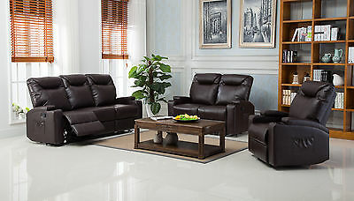 NEW CINEMA HOLLYWOOD Bonded Leather Electric Recliner Sofa ...