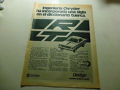 DODGE POLARA CHRYSLER  RARE! ADVERTISING ofARGENTINA ORIGINAL 1 AD PRINT #10