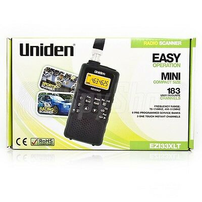 Uniden EZI33XLT compact radio scanner / Work time: up to 24 h / 180 frequencies