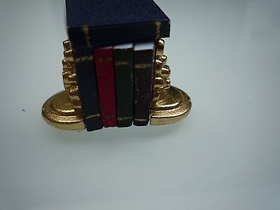 Dolls House Miniature 1:12th Set of Books in Bookends