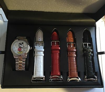 New Limited Edition Mickey Mouse Watch Set with 5 Bands, MZBerger & Co Disney