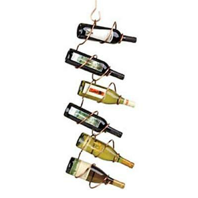 Oenophilia 10048 Climbing Tendril Copper 6 Bottle Wine Rack