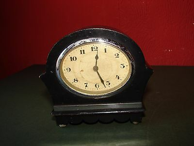 Small Antique Ebony Clock Working