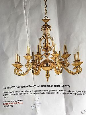chandelier solid brass 16 lights