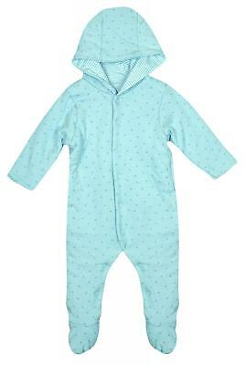 Baby Boys Padded Stars Print Snowsuit Pramsuit BLUE Newborn to 12 Months