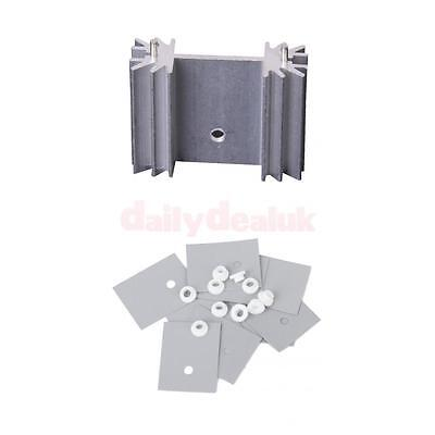 Set of Aluminum Heatsink with TO-220 Silicone Thermal Heatsink Insulator Pad