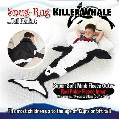 Snug Rug Killer Whale Tail Super Soft Quality Mink Fleece Blanket