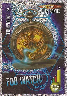 "Doctor Who Alien Armies - ""Fob Watch"" Glitter Foil Card G6"