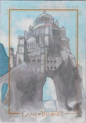 Game of Thrones Season 4 - RARE Seth Ismart Sketch Card