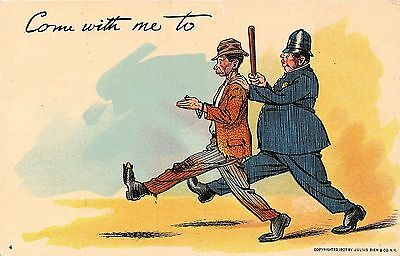 POSTCARD  COMIC   WRITE  AWAY  Police  Related  Come  with me to...