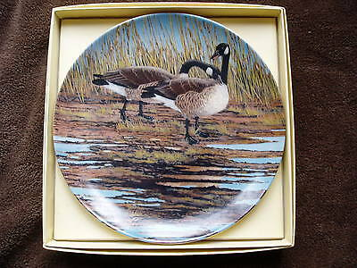 COURTSHIP china plate. Donald Pentz Wings Upon The Wind  Geese.1986  Ltd Ed'n