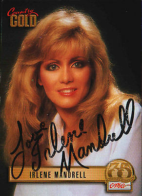 Irlene Mandrell 1933 Sterling Country Gold Anniversary Card No. 52