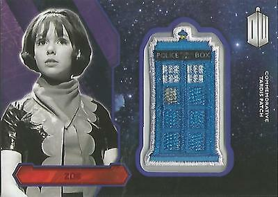 "Topps Doctor Who 2015 - ""Zoe"" RED Tardis Patch Card #04/25"