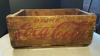 Antique Coca-Cola Wood Carry Case Large Red Letters
