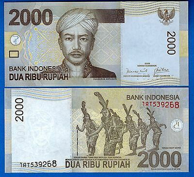Indonesia P-148a 2000 Rupiah Year 2009 Uncirculated Banknote