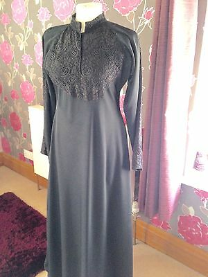 Black Double Umbrella Fully Skirted Abaya Jilbab Size 52