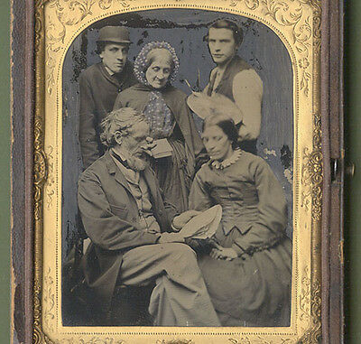 Rare British Painter Palette Actors Ambrotype