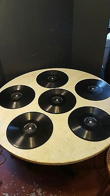 Antique Circa 1905 Standard Talking Machine Phonograph Record-Lot of 6 Nice
