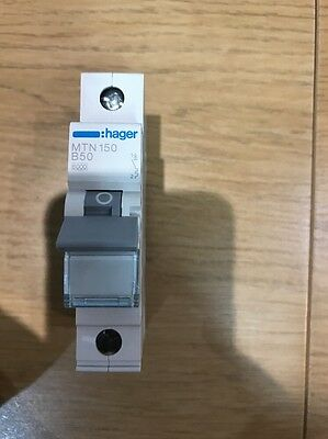 Hager 50Amp Single Pole B Type Mcb