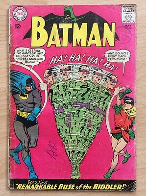 BATMAN #171 - 1st SILVER AGE RIDDLER - VG- CONDITION - DC COMICS MAY 1965