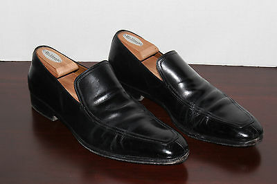 GUCCI Black Leather Split APRON Toe Loafer Dress Shoe LUXE Made in ITALY 9D NR