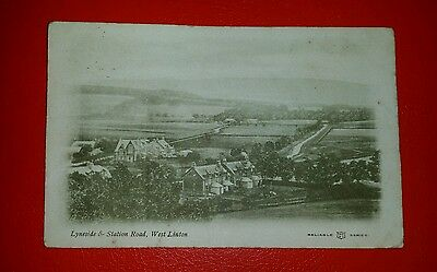 LYNESIDE & STATION ROAD, WEST LINTON - Early 1900's (A).