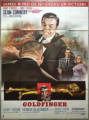 Affiche GOLDFINGER Guy Hamilton JAMES BOND Sean Connery R120x160cm
