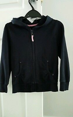 girls navy blue hood tracksuit top age 5-6