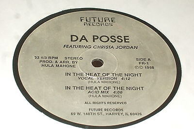 Da Posse ft. Christa Jordan ‎– In The Heat Of The Night  1988 ACID HOUSE..RARE!!